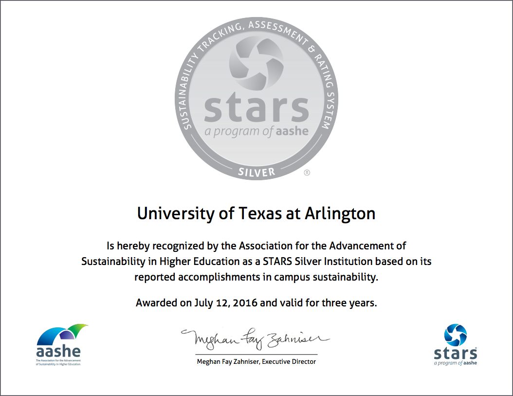 UTA sustainability higher education